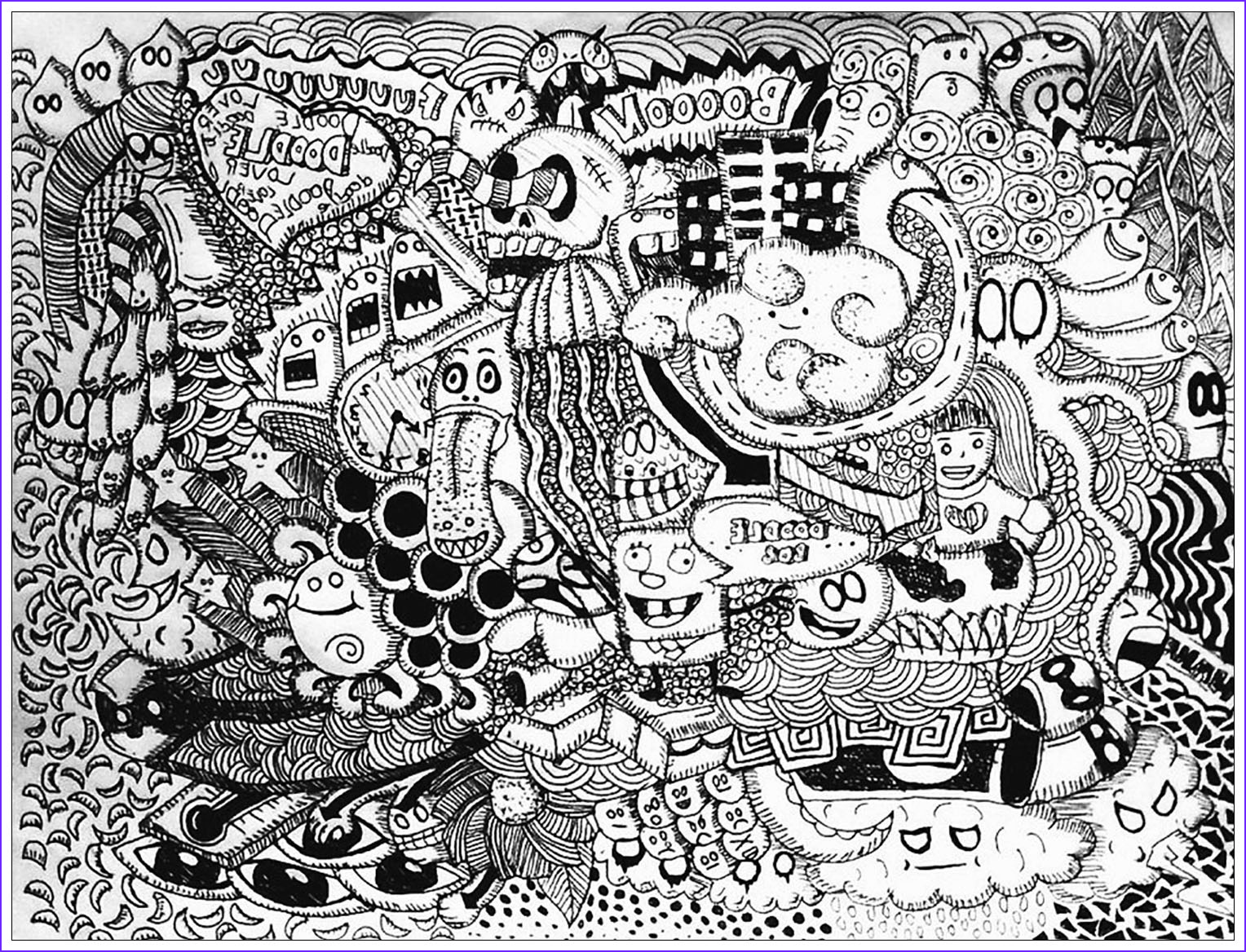 Doodle Art Coloring Pages Best Of Images Doodle Lover Bon Janapin Coloring Pages for Adults