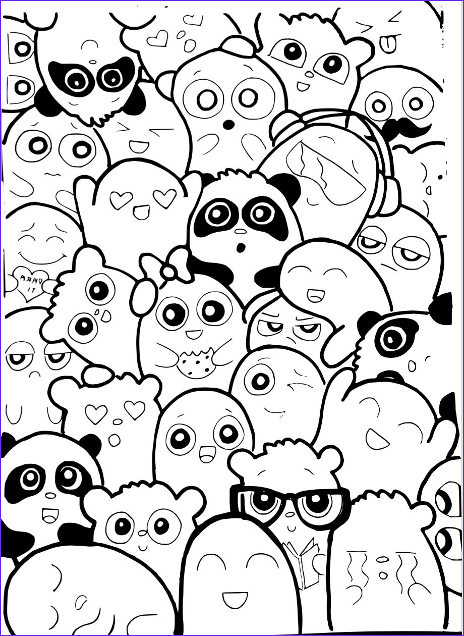 Doodle Art Coloring Pages Cool Photos Template Doodle Caricatura