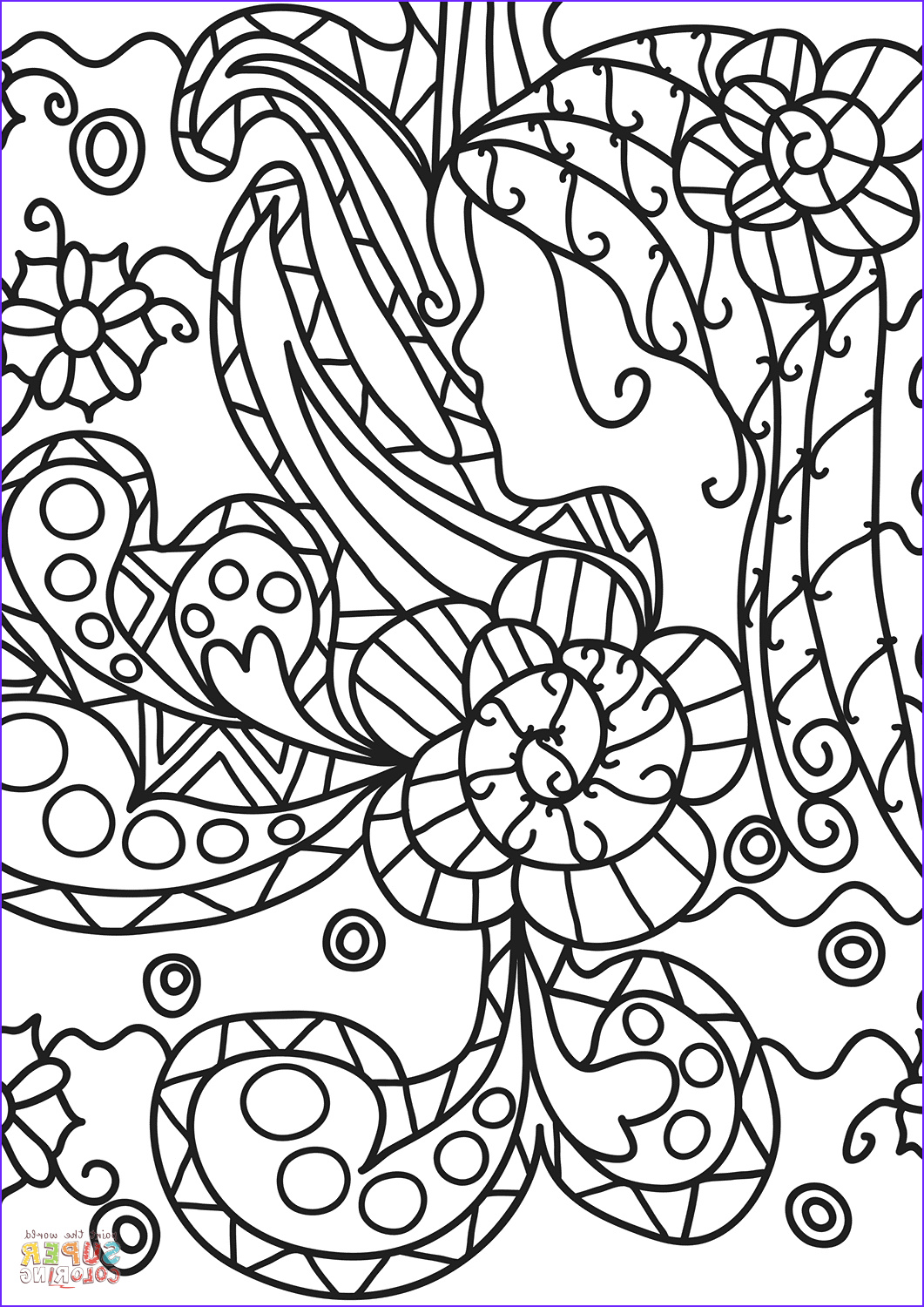 Doodle Art Coloring Pages Inspirational Images Abstract Doodle Coloring Page