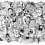 Doodle Art Coloring Pages New Stock Doodle Mash Up Coloring Page