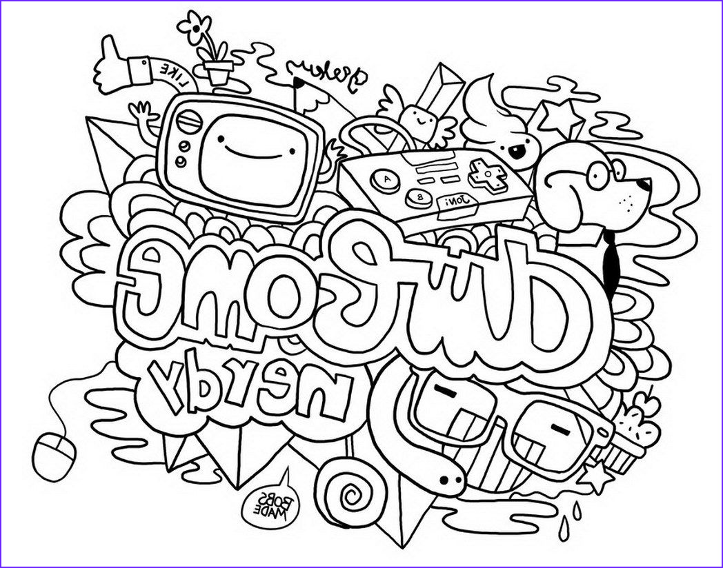 Doodle Coloring Pages Beautiful Collection Doodle Coloring Pages Best Coloring Pages for Kids