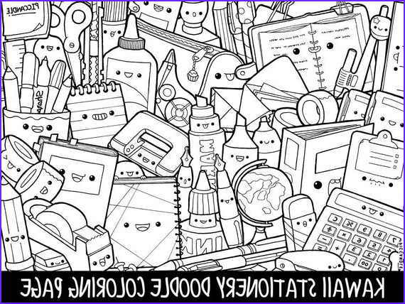 Doodle Coloring Pages Best Of Photos Stationery Doodle Coloring Page Printable Cute Kawaii