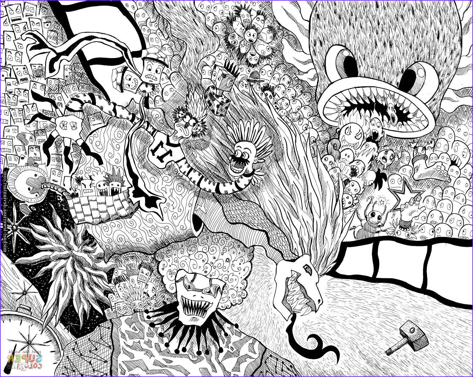 Doodle Coloring Pages Cool Image Random Doodle Coloring Page