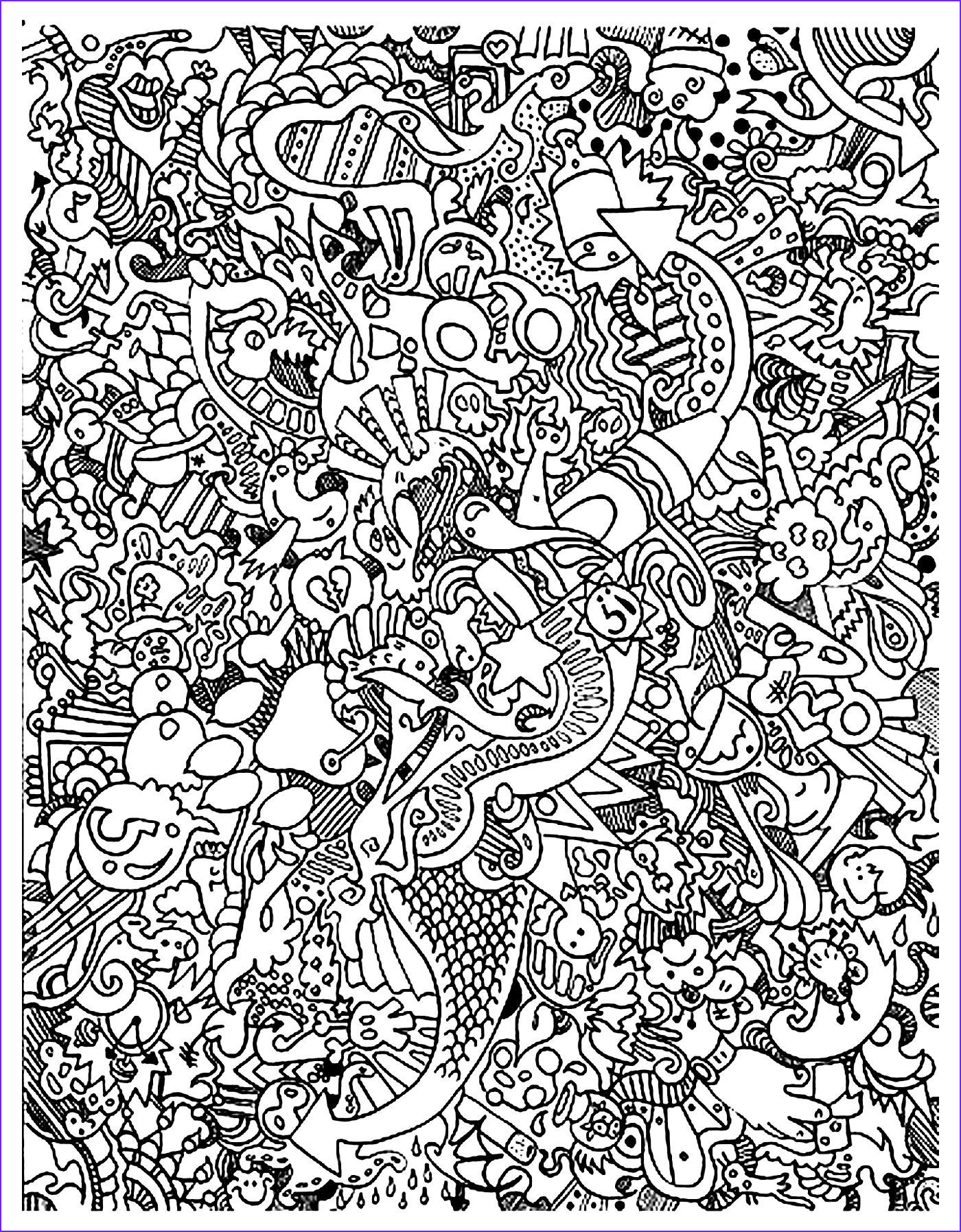 Doodle Coloring Pages Inspirational Gallery Free Coloring Page Coloring Doodle Art Doodling 18 Very