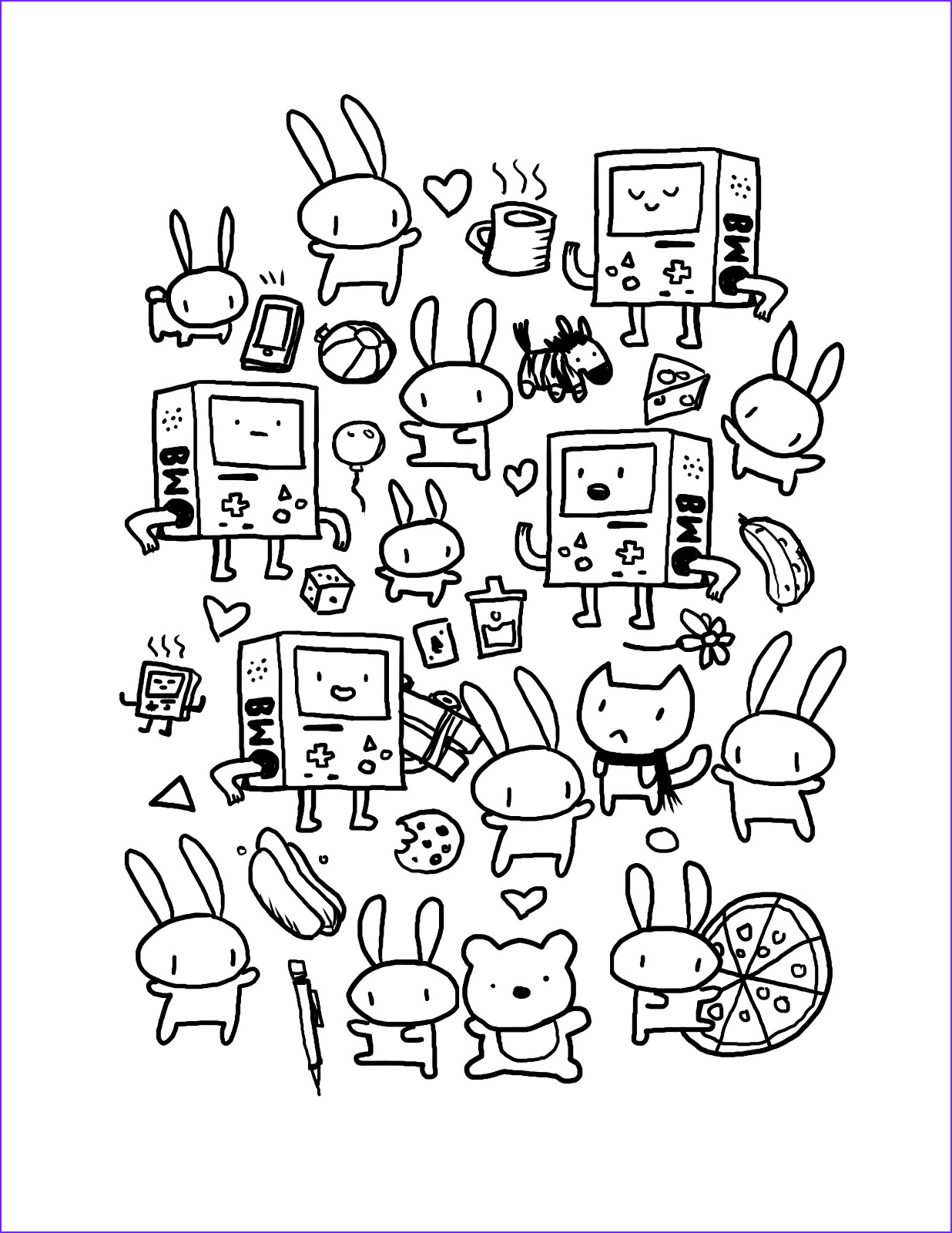 Doodle Coloring Pages Unique Gallery Quality Doodles by Kyle Ruby Coloring Page