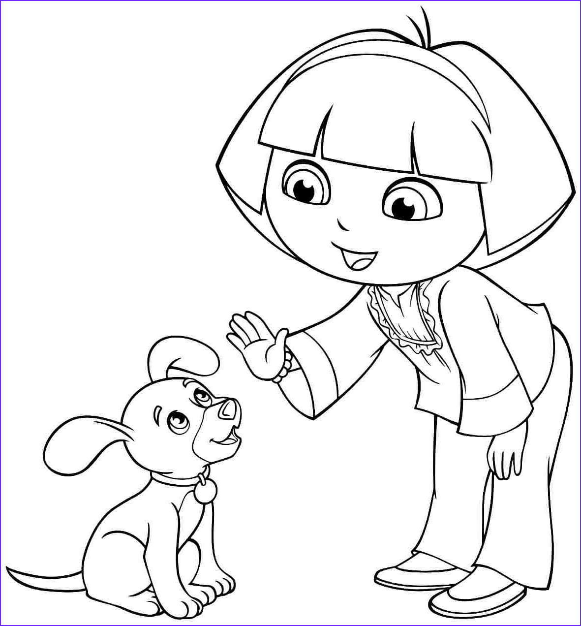 Dora Coloring Awesome Image Dora Coloring Pages