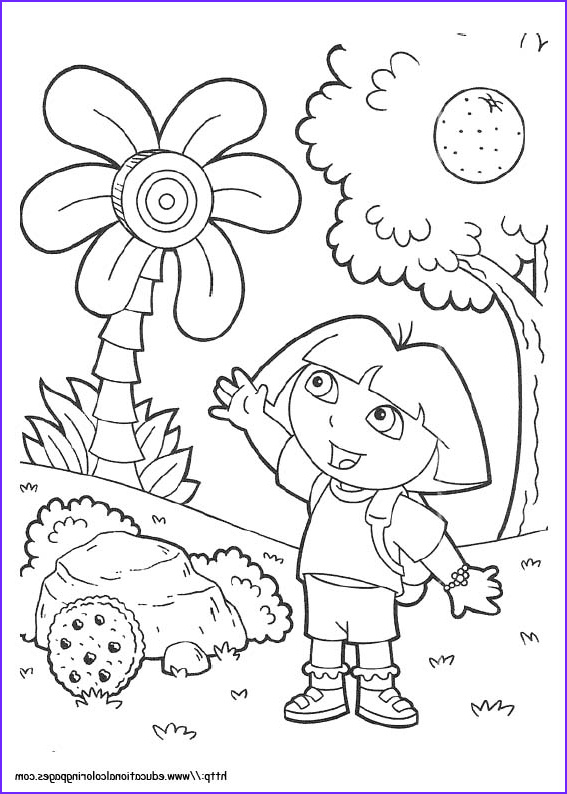 Dora Coloring Beautiful Photos Dora Coloring Pages Free for Kids