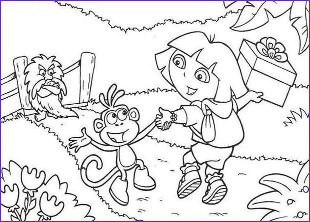 dora and boots color in