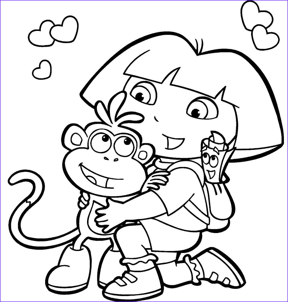 Dora Coloring Luxury Gallery Dora Coloring Pages Printable Dora Coloring Pages Free