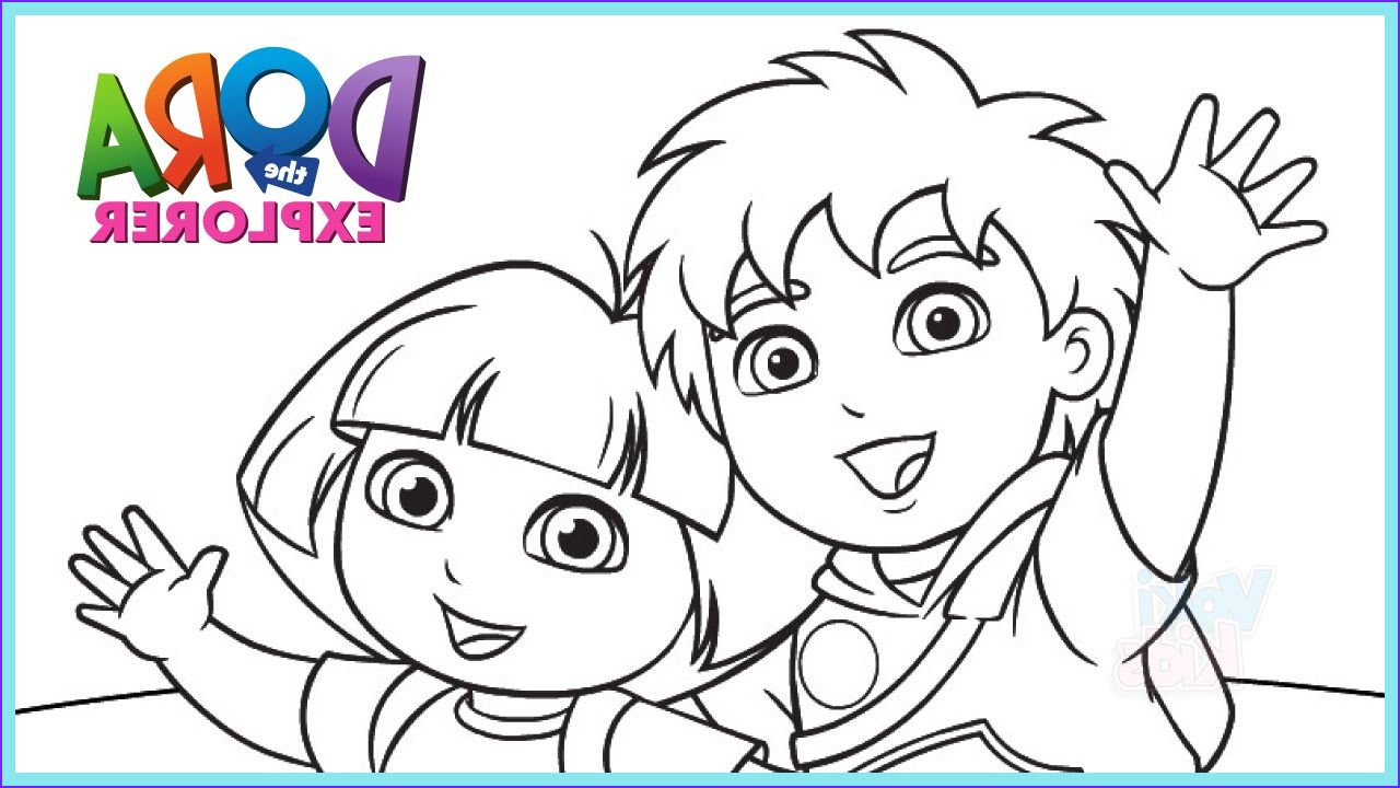 coloring pages dora the explorer
