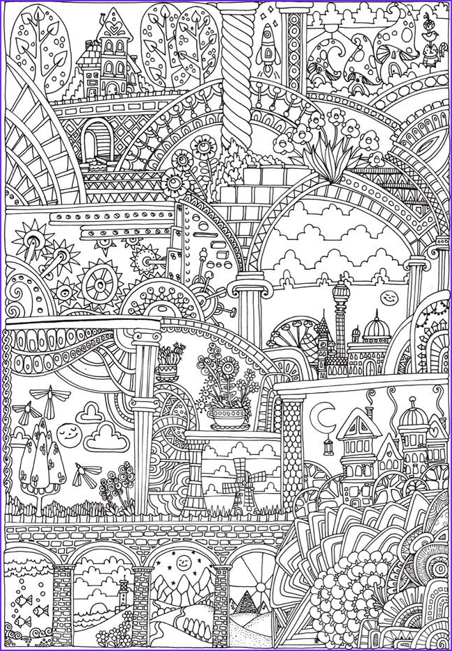 Dover Coloring Books for Adults Beautiful Photography Creative Haven Insanely Intricate Entangled Landscapes