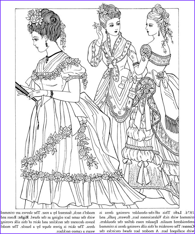 Dover Coloring Books for Adults Elegant Photos Godey S Fashions Coloring Book Dover Publications