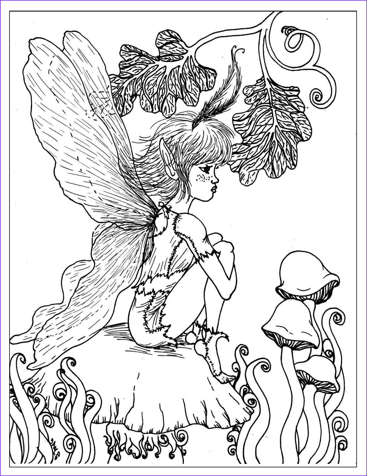 Download Adult Coloring Book Beautiful Photos Fantasy Coloring Pages For Adults To And Print