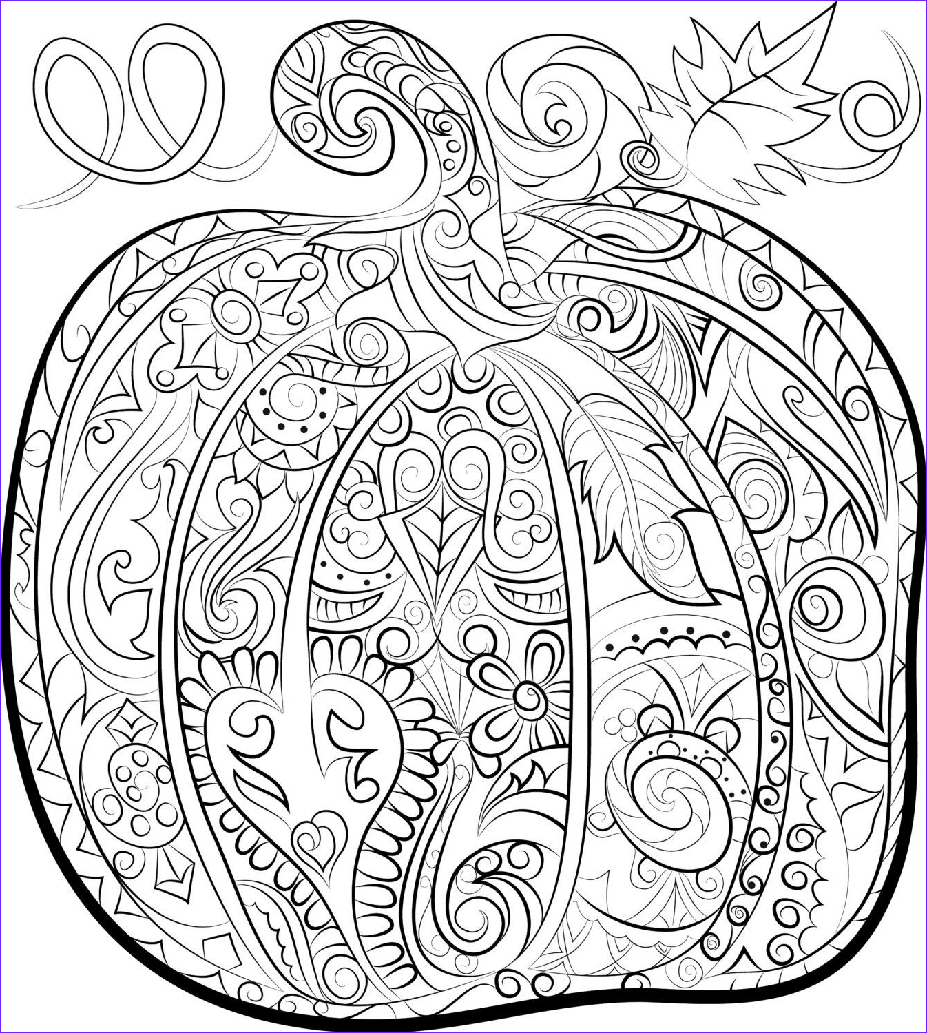 Download Adult Coloring Book Unique Image Pumpkin Adult Colouring Page Halloween Instant