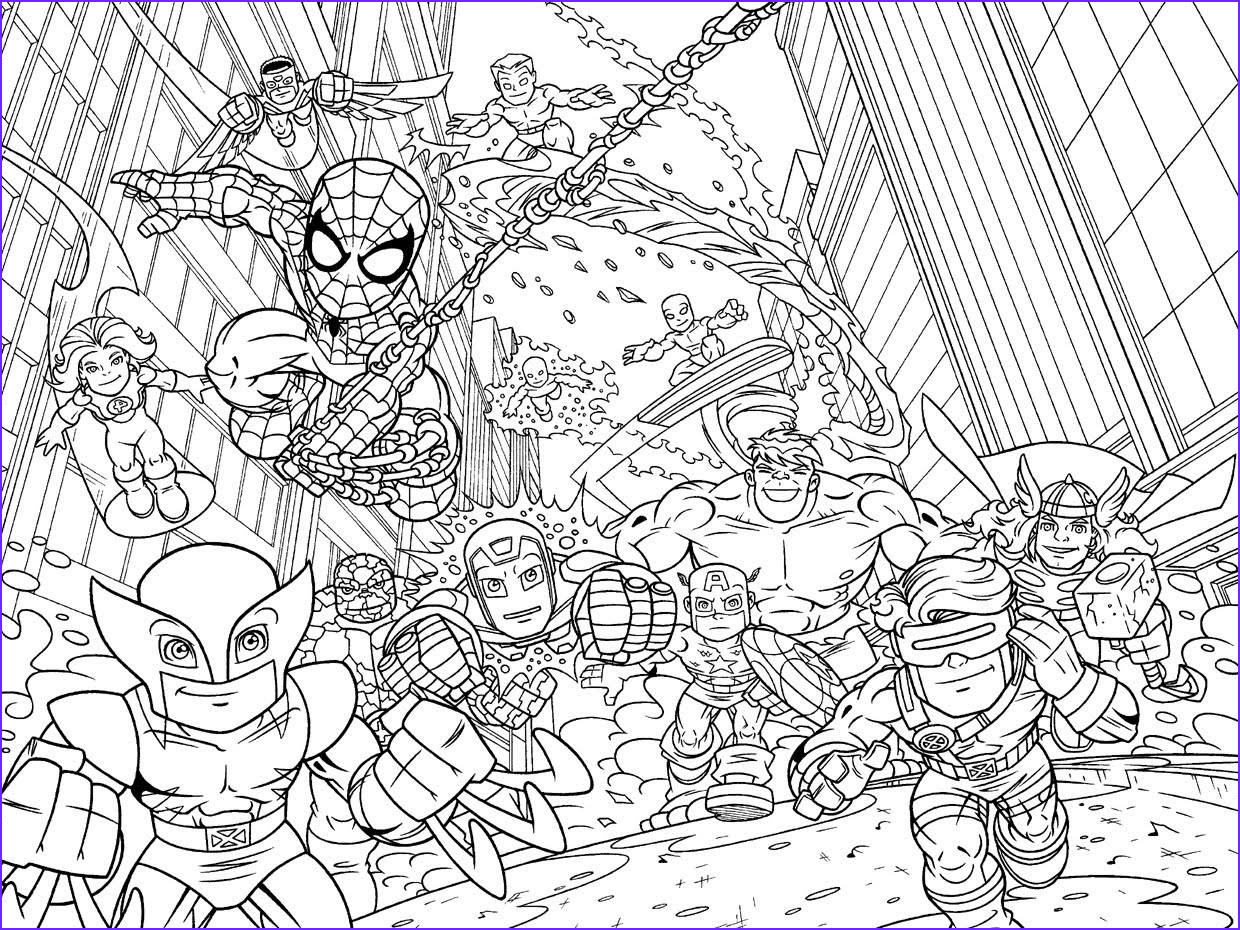 superhero squad coloring pages