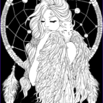 Downloadable Coloring Pages For Adults Inspirational Images Lineartsy Free Adult Coloring Page Dreamcatcher Lined