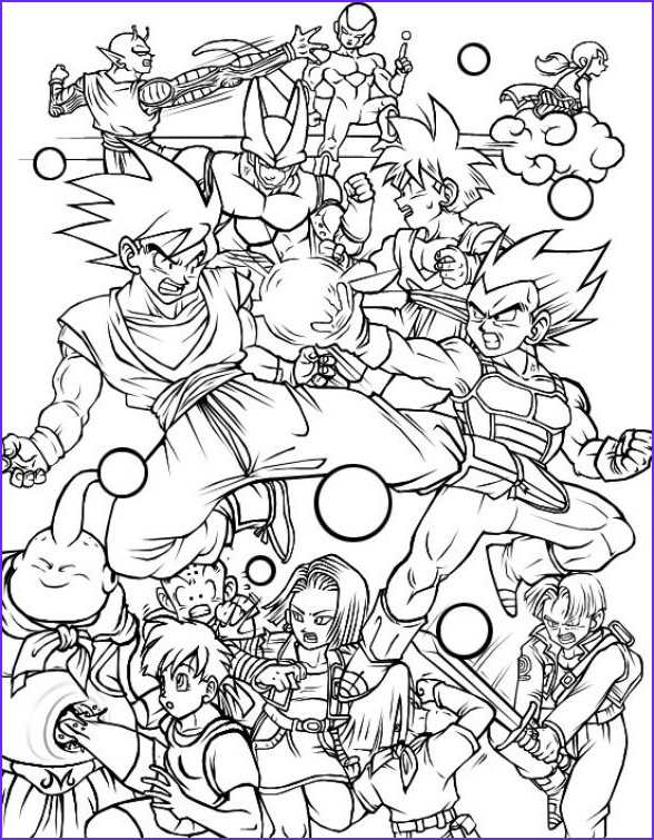 Dragon Ball Z Coloring Unique Photos All Characters In Dragon Ball Z Free Printable Coloring