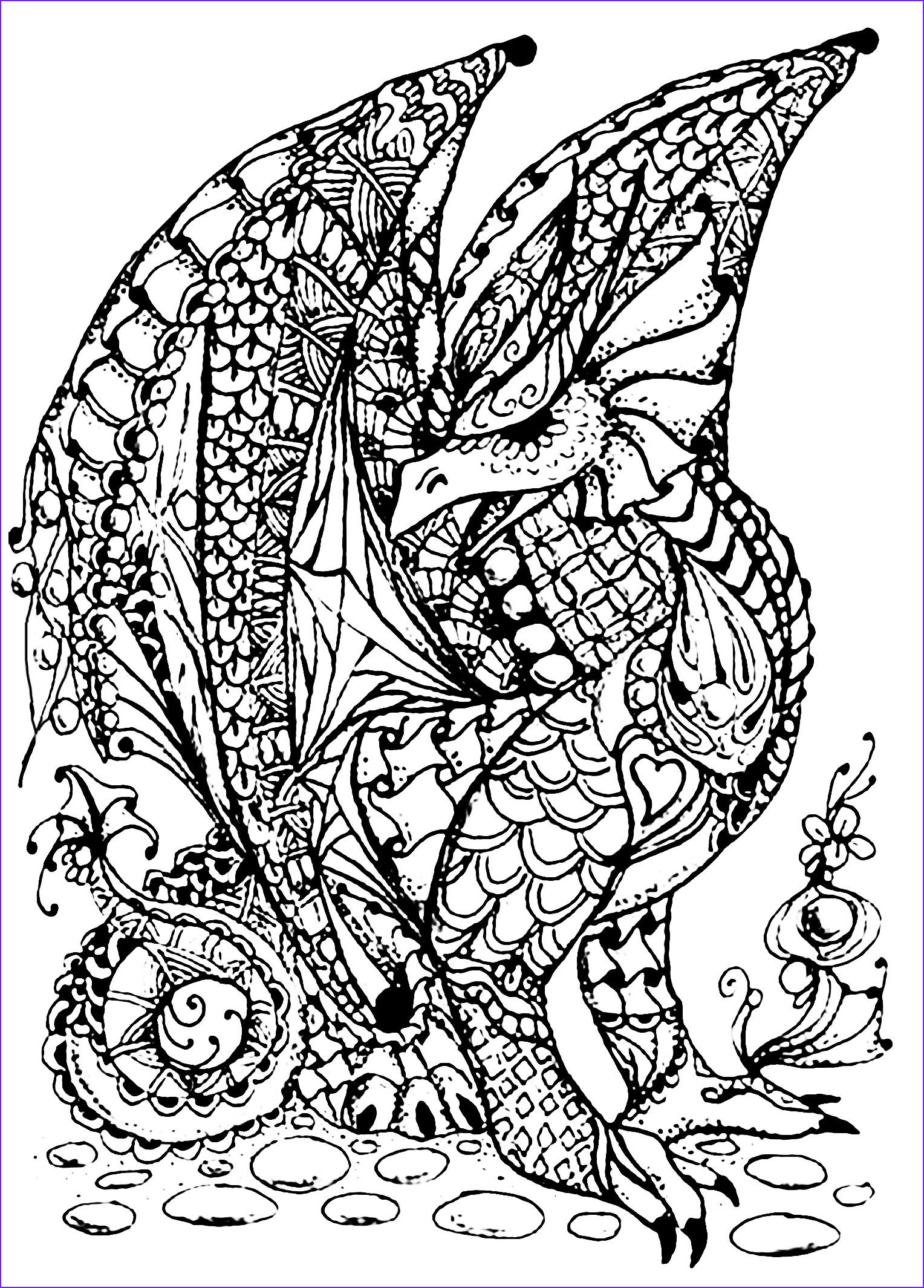 Dragon Coloring Cool Gallery Dragon Coloring Pages Printable Line Free