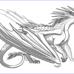 Dragon Coloring Pages Awesome Photos Icewing Dragon From Wings Of Fire Coloring Page