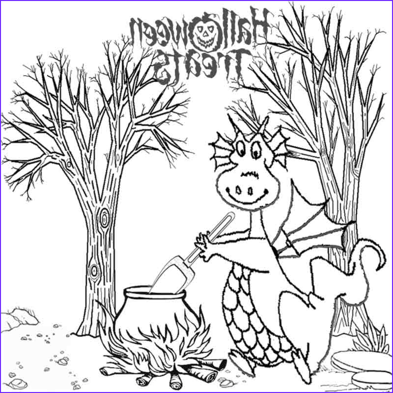 kids halloween dragon coloring pages to