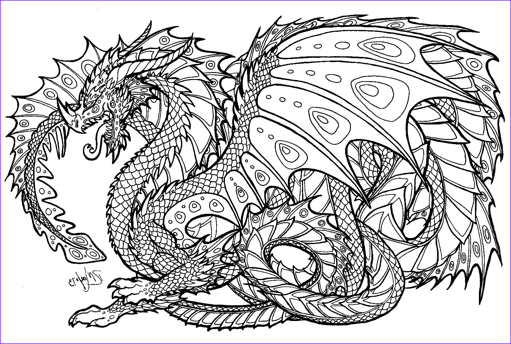 Dragon Coloring Pictures Awesome Image Free Printable Coloring Pages for Adults Advanced Dragons