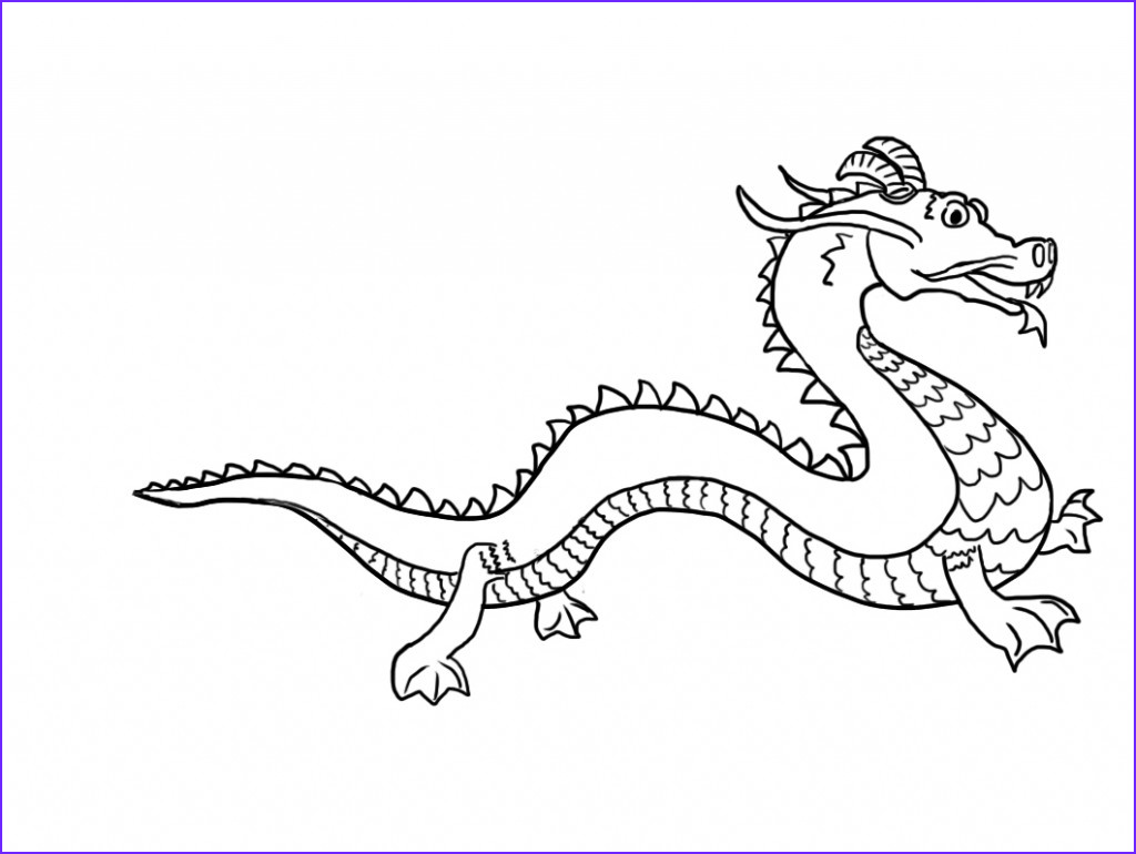 Dragon Coloring Pictures Beautiful Collection Free Printable Chinese Dragon Coloring Pages for Kids