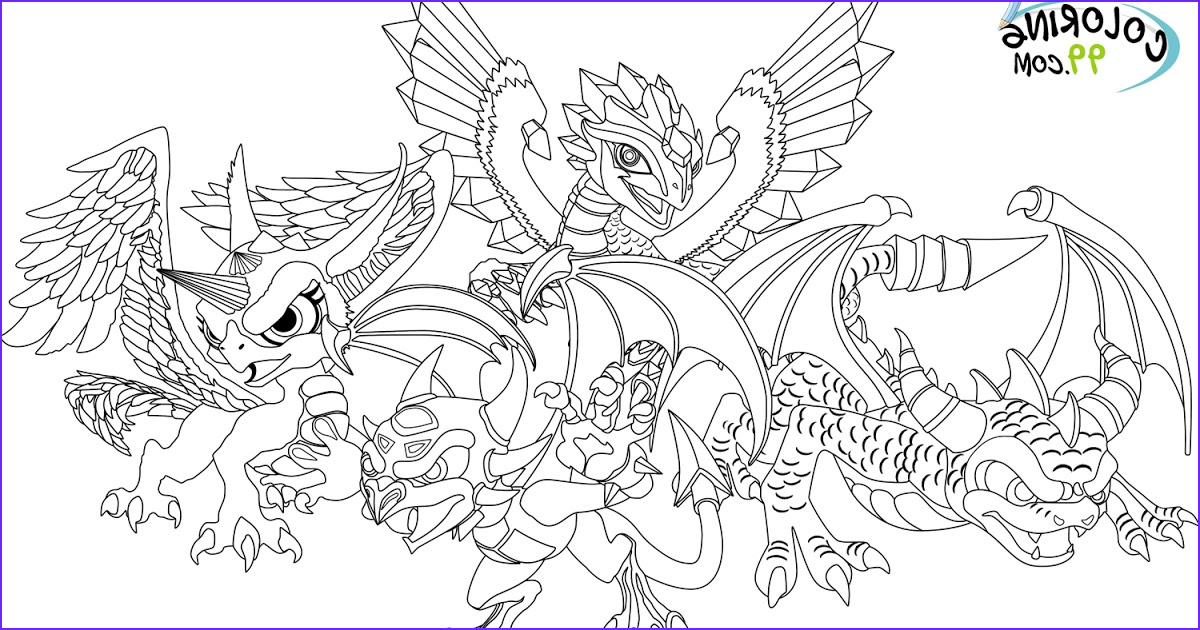 Dragon Coloring Pictures Luxury Gallery Skylanders Dragons Coloring Pages