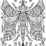 Dragon Fly Coloring Beautiful Collection Free Colouring Page Dragonfly Thing By Welshpixie