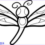 Dragonfly Coloring Unique Photos How To Draw A Dragonfly For Kids Step By Step Animals