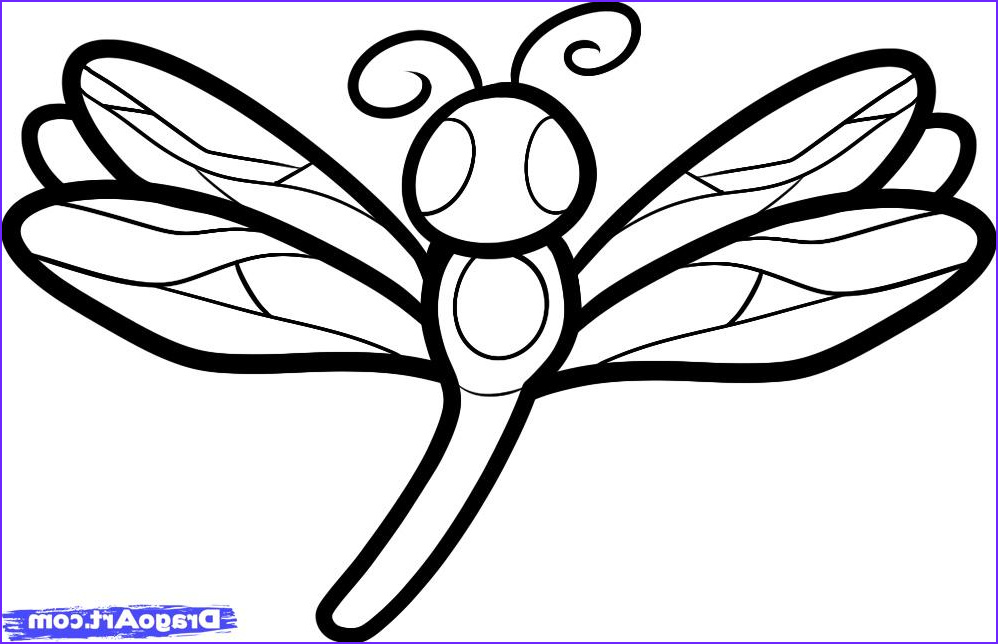 how to draw a dragonfly for kids