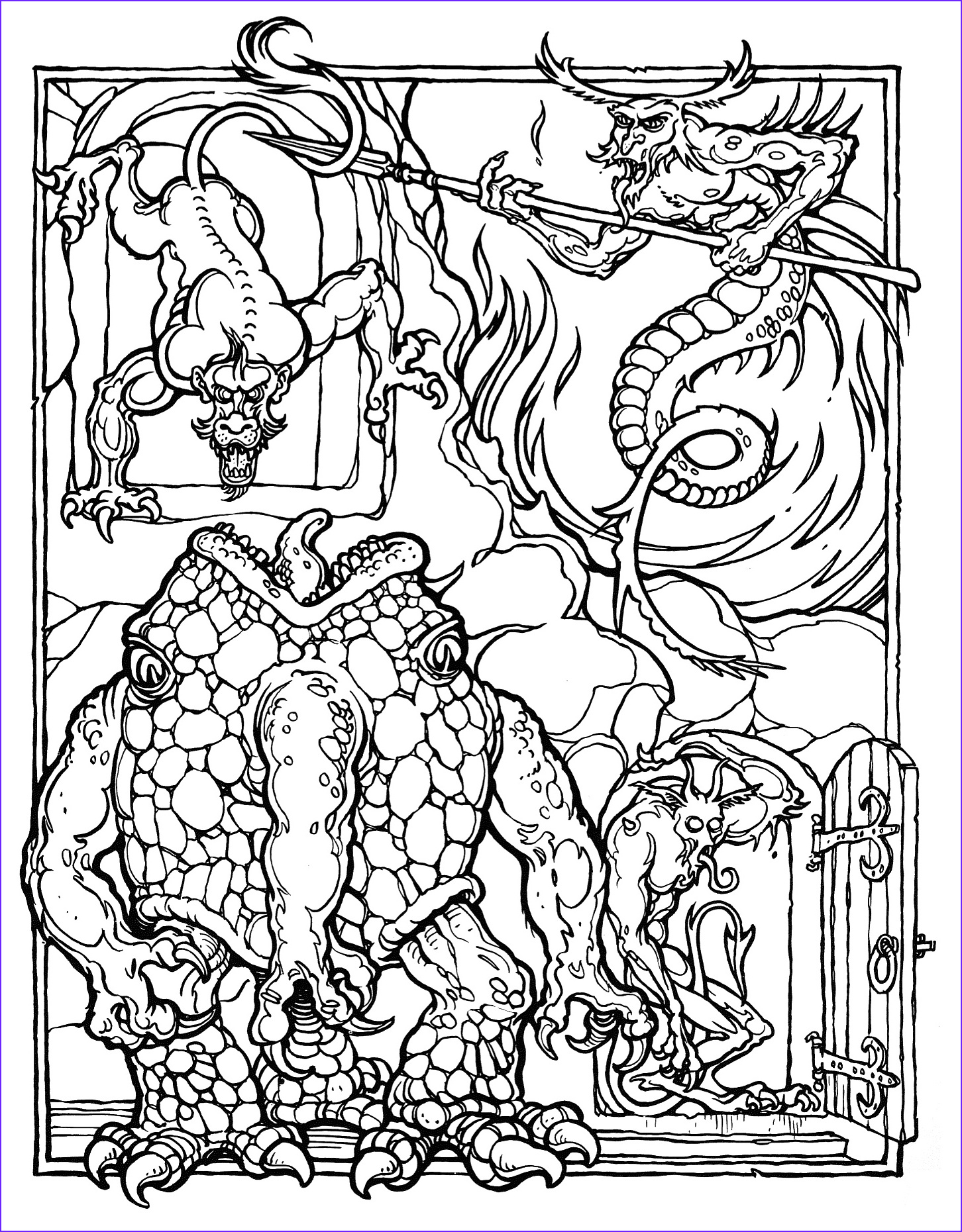 Dragons Coloring Book Beautiful Photos Monster Brains the Ficial Advanced Dungeons and Dragons