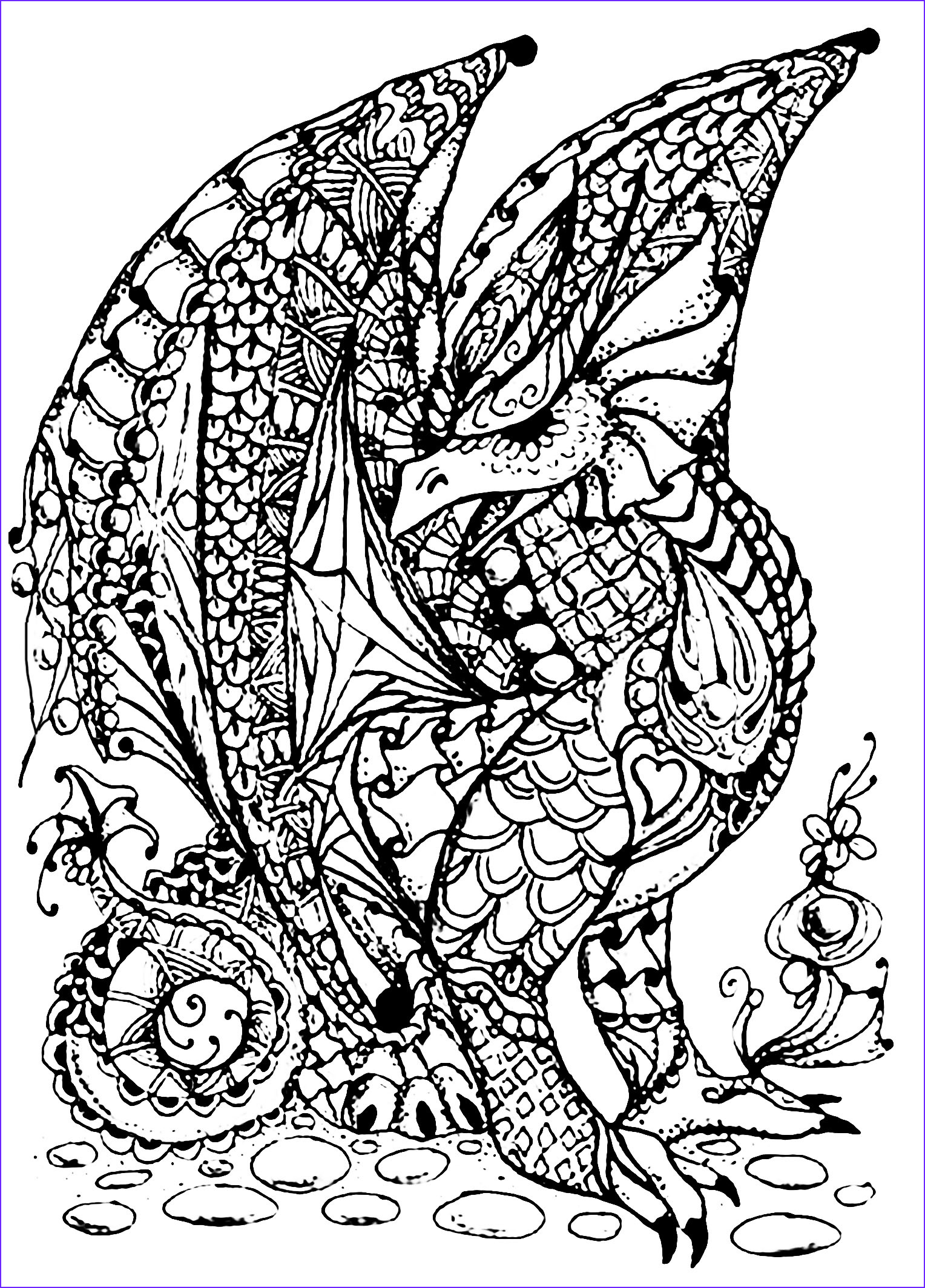 Dragons Coloring Book Luxury Photos Dragon Full Of Scales Dragons Adult Coloring Pages