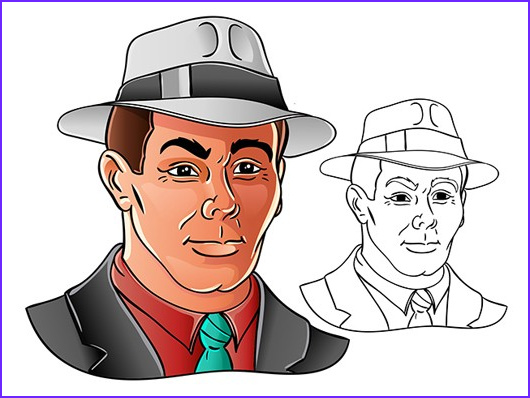 Drawing and Coloring Cool Collection Vector Ic Face