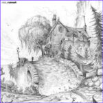 Drawing Coloring Book Beautiful Gallery Environment Designs In Pencil Done For My Personal Project