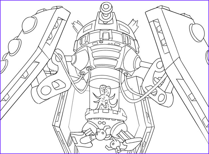 Drawing Coloring Book Inspirational Stock Doctor who Fan Art Featuring the Dalek Emperor as Seen In