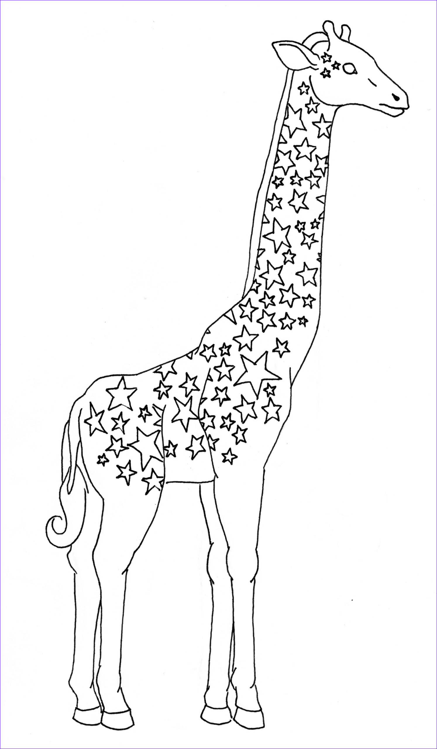 Drawing Coloring Book Luxury Stock Giraffes and their Spots