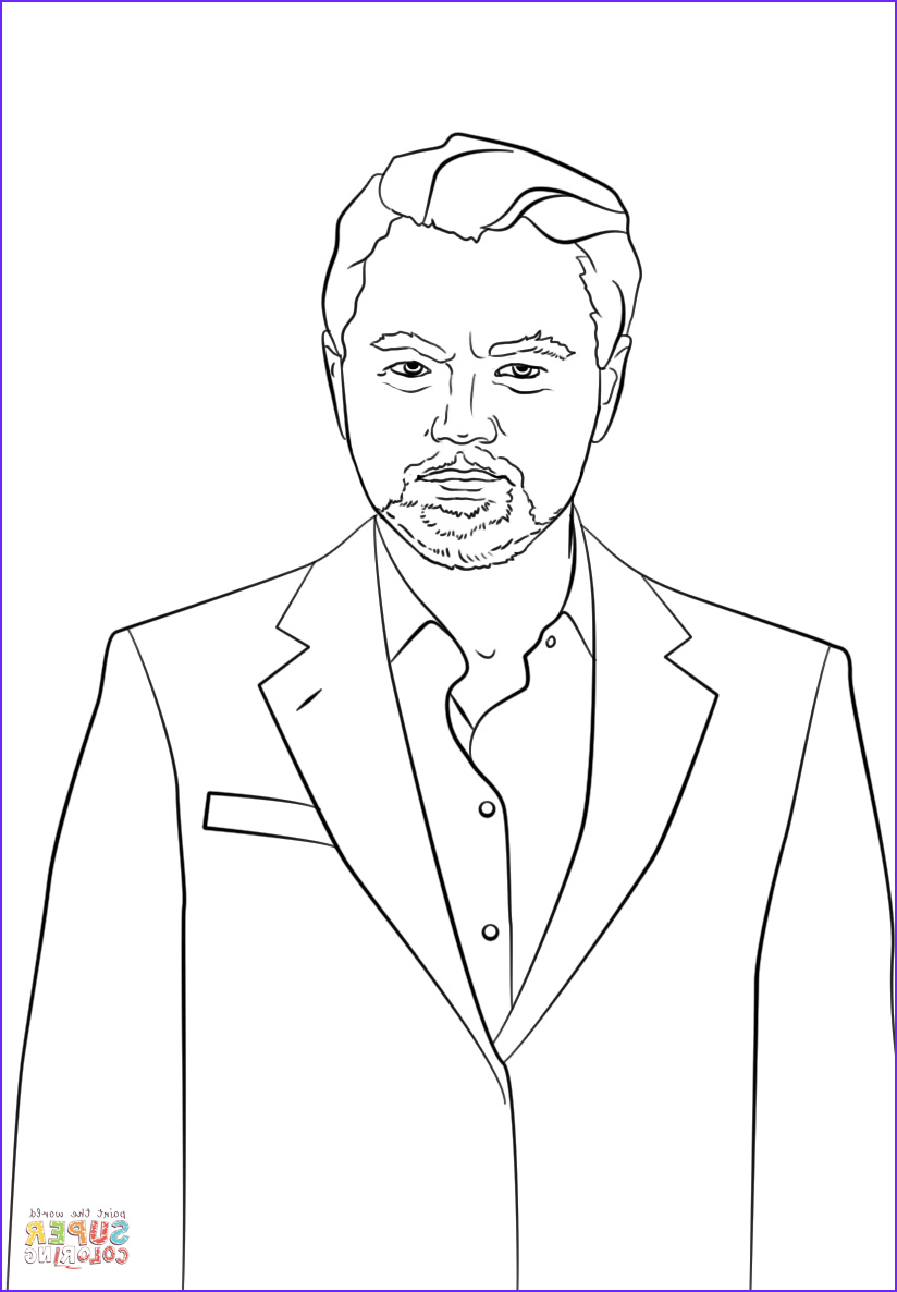 Drawing Coloring Book Luxury Stock Leonardo Dicaprio Coloring Page