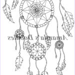Dream Catcher Coloring Awesome Photos Dream Catcher Coloring Page