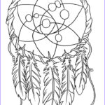 Dream Catcher Coloring Beautiful Photos Oodles Of Doodles Dreamcatcher Coloring Page