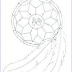 Dream Catcher Coloring Book Beautiful Gallery Simple Dreamcatcher Drawing At Getdrawings