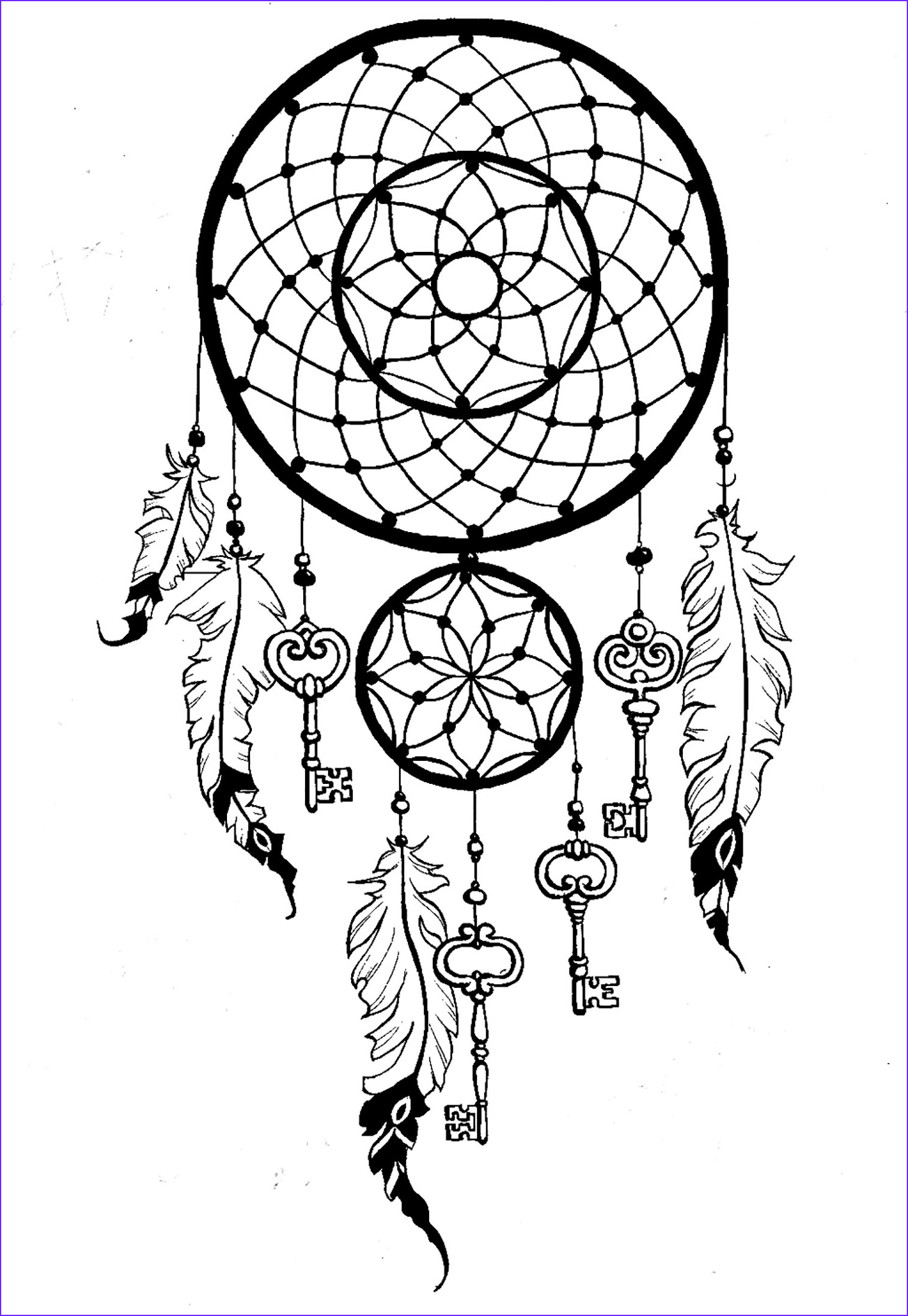 Dream Catcher Coloring Book Beautiful Images Dreamcatcher Keys Dreamcatchers Adult Coloring Pages