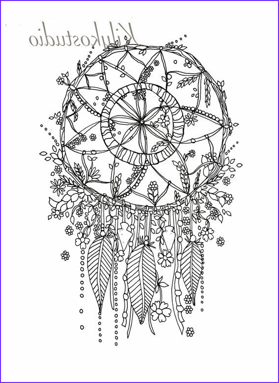 Dream Catcher Coloring Book Cool Images 114 Bästa Bilderna Om Dreamcatcher Coloring Pages for
