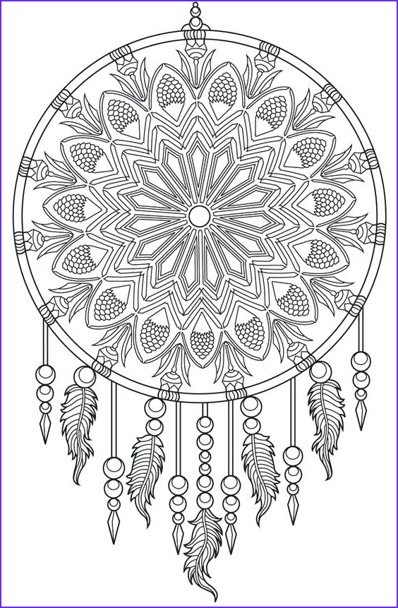 dream catcher coloring pages