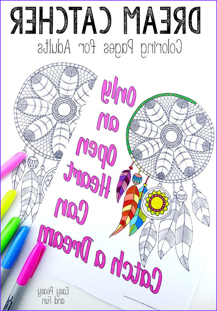 Dream Catcher Coloring Book Inspirational Gallery Dream Catcher Coloring Pages for Adults