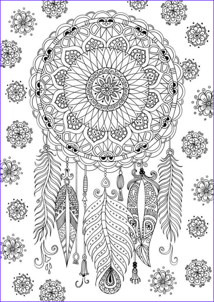 Dream Catcher Coloring Book New Photos 159 Best Dreamcatcher Coloring Pages for Adults Images On