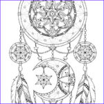 Dream Catcher Coloring Luxury Collection Dreamcatcher Coloring Pages Adult Coloring Book Printable