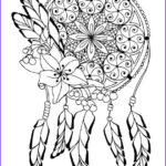 Dream Catcher Coloring Page Beautiful Collection Dream Catcher Adult Coloring Page By Triginkart On Etsy