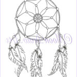 Dream Catcher Coloring Page Best Of Photos Dream Catcher Printable Coloring Page Adult By Moondrawarts