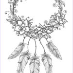 Dream Catcher Coloring Page Cool Collection Dreamcatcher Coloring Page