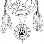Dream Catcher Coloring Page Inspirational Collection Simple Dream Catcher Drawing At Getdrawings
